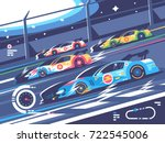 sports car competitions. group... | Shutterstock .eps vector #722545006
