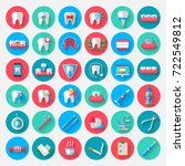 dentistry icons isolated in a... | Shutterstock .eps vector #722549812