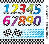 vector racing theme design... | Shutterstock .eps vector #72255970