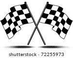 vector two crossed checkered... | Shutterstock .eps vector #72255973