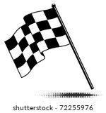 vector single checkered flag. ... | Shutterstock .eps vector #72255976