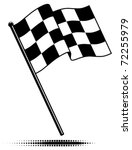 vector single checkered flag. ... | Shutterstock .eps vector #72255979