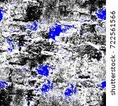 grunge blue seamless pattern.... | Shutterstock . vector #722561566