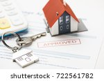 approved mortgage loan... | Shutterstock . vector #722561782