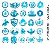 water icon set. vector | Shutterstock .eps vector #722565652