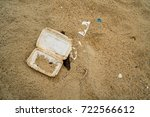 garbage on the beach. | Shutterstock . vector #722566612