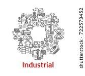 industrial cogwheel poster or...   Shutterstock .eps vector #722573452