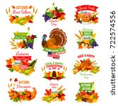 Thanksgiving Day Sale Icons Fo...