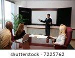 business team working on a... | Shutterstock . vector #7225762