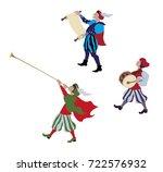 medieval cartoon characters in... | Shutterstock .eps vector #722576932