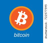 bitcoin crypto currency.... | Shutterstock .eps vector #722577595