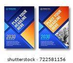 cover template for books ... | Shutterstock .eps vector #722581156