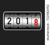 new year 2018 design  odometer... | Shutterstock . vector #722582452