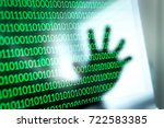cyber security threat and... | Shutterstock . vector #722583385