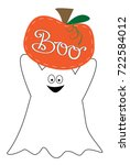 boo happy halloween ghost and... | Shutterstock .eps vector #722584012