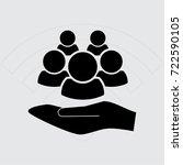 people icon  man vector... | Shutterstock .eps vector #722590105