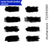 black ink vector brush strokes | Shutterstock .eps vector #722593585