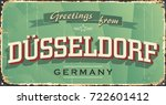 vintage tin sign with german... | Shutterstock .eps vector #722601412