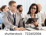 business  people and education... | Shutterstock . vector #722602006