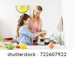 food  family and people concept ... | Shutterstock . vector #722607922