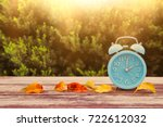 image of autumn time change.... | Shutterstock . vector #722612032