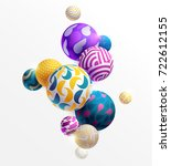 abstract colorful background... | Shutterstock .eps vector #722612155