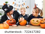 happy family mother father and... | Shutterstock . vector #722617282