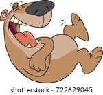 cartoon bear rolling on the... | Shutterstock .eps vector #722629045