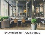 interior of cozy restaurant.... | Shutterstock . vector #722634832