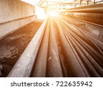 electricical cable tray in a... | Shutterstock . vector #722635942