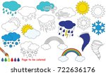 weather set to be colored  the... | Shutterstock .eps vector #722636176