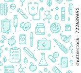 seamless pattern of medical... | Shutterstock .eps vector #722639692