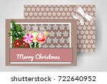 front and back christmas... | Shutterstock .eps vector #722640952