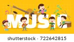 play music concept of children... | Shutterstock .eps vector #722642815