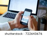chatbot concept  chat robot... | Shutterstock . vector #722643676