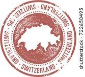 vintage switzerland european... | Shutterstock .eps vector #722650495