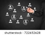 target audience  market... | Shutterstock . vector #722652628