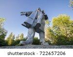 monument to vladimir lenin.... | Shutterstock . vector #722657206