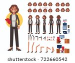business woman character... | Shutterstock .eps vector #722660542