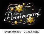 happy anniversary  beautiful... | Shutterstock .eps vector #722664082