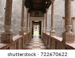 pathway in a castle in italy | Shutterstock . vector #722670622