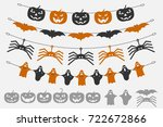 garland halloween. the laser... | Shutterstock .eps vector #722672866