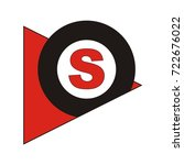 s letter in triangle and circle ... | Shutterstock .eps vector #722676022