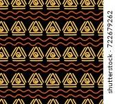 african ethnic seamless pattern ... | Shutterstock .eps vector #722679262
