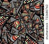 retro geometric  shapes... | Shutterstock .eps vector #722680762