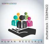 human resources management... | Shutterstock .eps vector #722694622