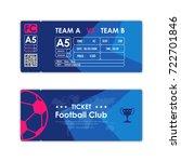 football  soccer ticket card... | Shutterstock .eps vector #722701846