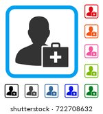 paramedic icon. flat iconic... | Shutterstock .eps vector #722708632