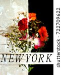new york typography t shirt... | Shutterstock . vector #722709622