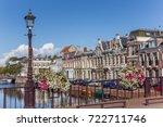 bridge with flowers in the... | Shutterstock . vector #722711746